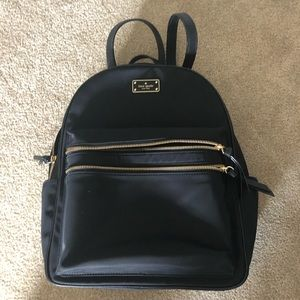 Kate spade large black backpack never used
